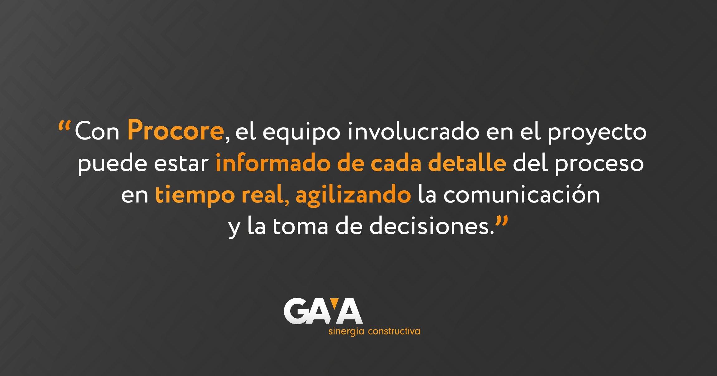 Con Procore, el equipo involucrado en el proyecto puede estar informado de cada detalle del proceso en tiempo real, agilizando la comunicación y la toma de decisiones.